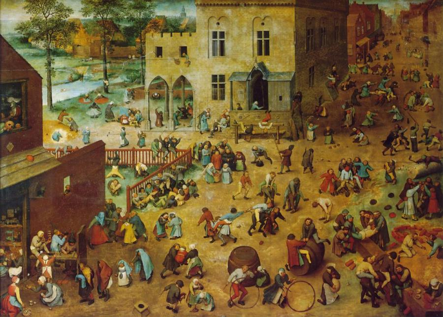 Children's Games painting by Peter Bruegel